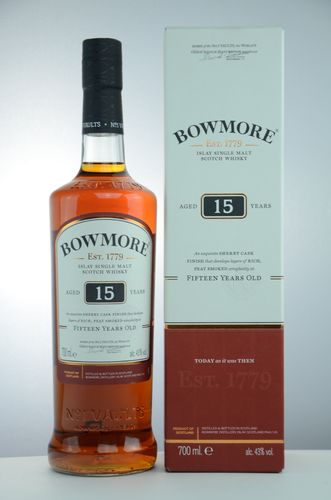 Bowmore 15 Jahre Sherry Cask Finish 43%  0,7 l