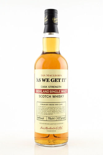 """As we get it"" Highland Cask Strength  0,7 l"