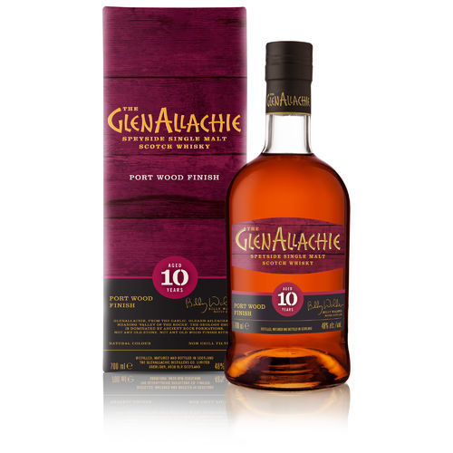 GlenAllachie 10 Jahre Ruby Port Pipe Finish  Wood Finish Series  0,7l