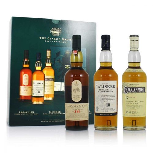 The Classic Malt Strong Pack (Lagavulin 16y, Talisker 10y, Cragganmore 12y) 3 x 0,2l