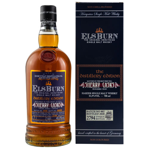 Elsburn Distillery Edition 2020 Batch 002 45,9% Vol  0,7l
